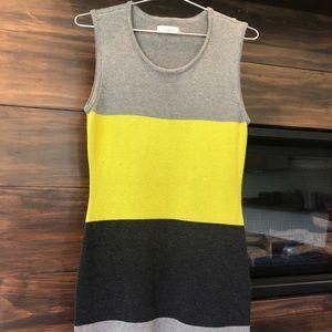 Calvin Klein colorblock sweater dress